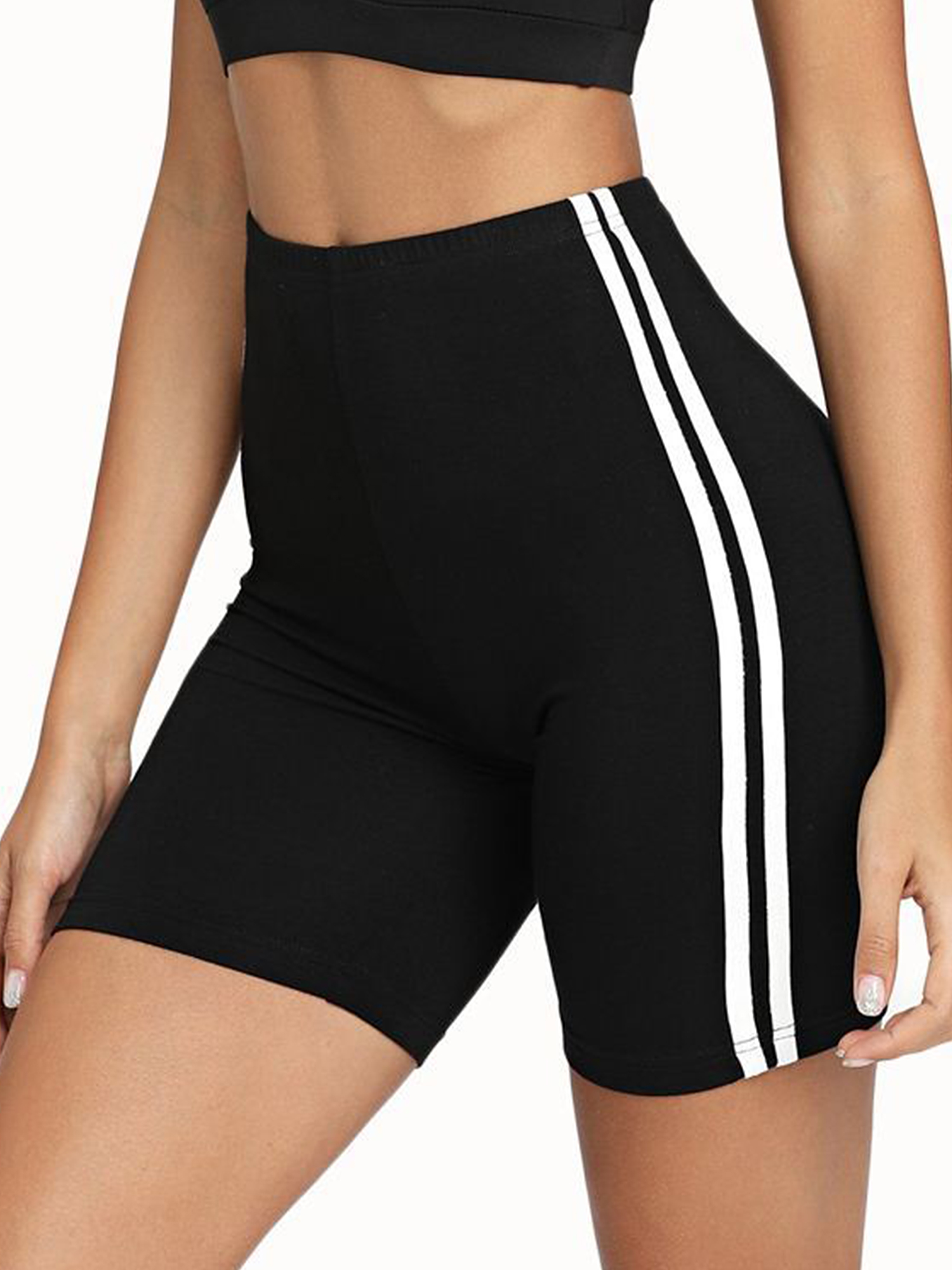 USEACCE Running Athletic Compression Shorts Yoga Shorts Women High Waist Workout Pants with Pockets