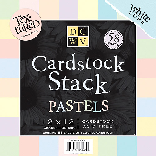 Textured Pastels Cardstock Stack 12X12 58 Sheets/Pad