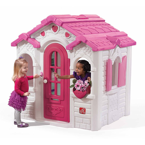 Step2 Sweetheart Gingerbread-Style Cottage Playhouse, Pink and White by Generic