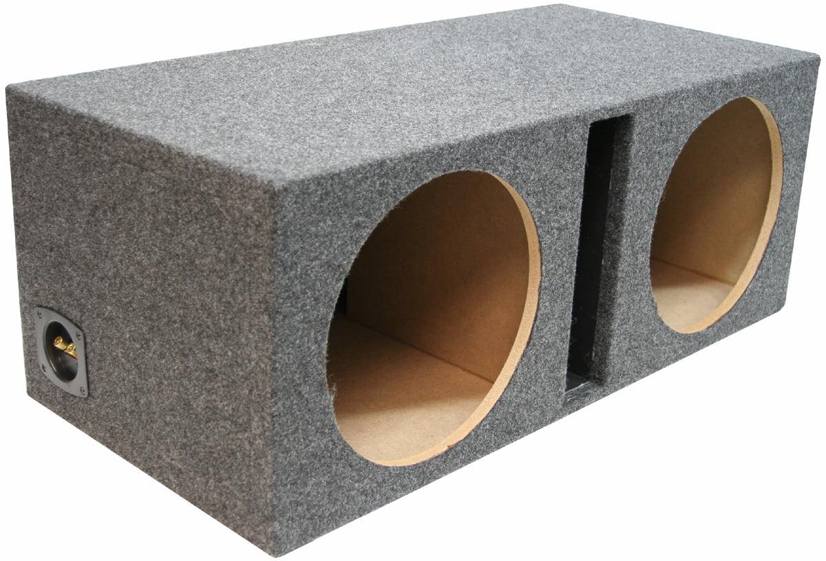 Dual 12 Inch Car Audio Vented Sub Box