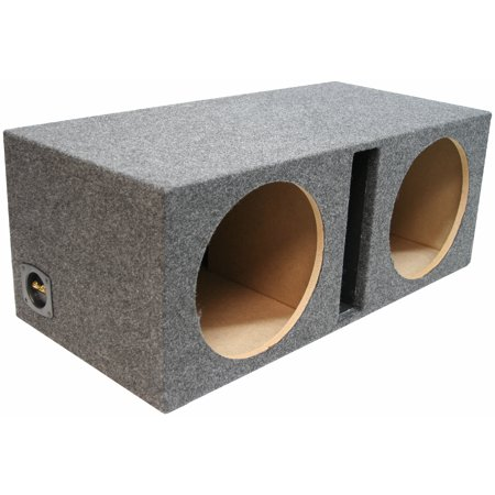 Dual 12 Inch Car Audio Vented Sub Box Ported Stereo Subwoofer Speaker Enclosure (12 Vented Sub Box)