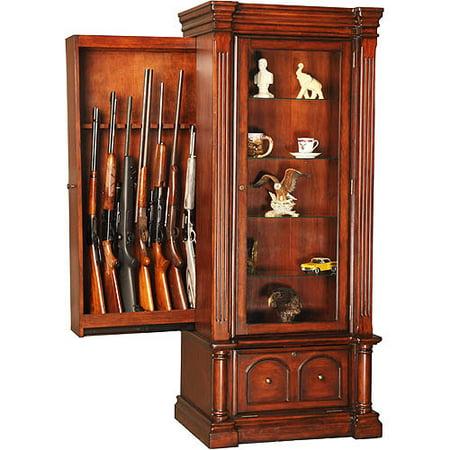 American Furniture Classics Jamestown Curio Gun Cabinet