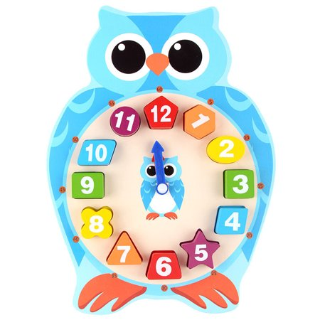 Educational Store (Wooden Baby Cartoon Clock Cute Animal Digital Number Clock Puzzle Matching Game Educational Toy)