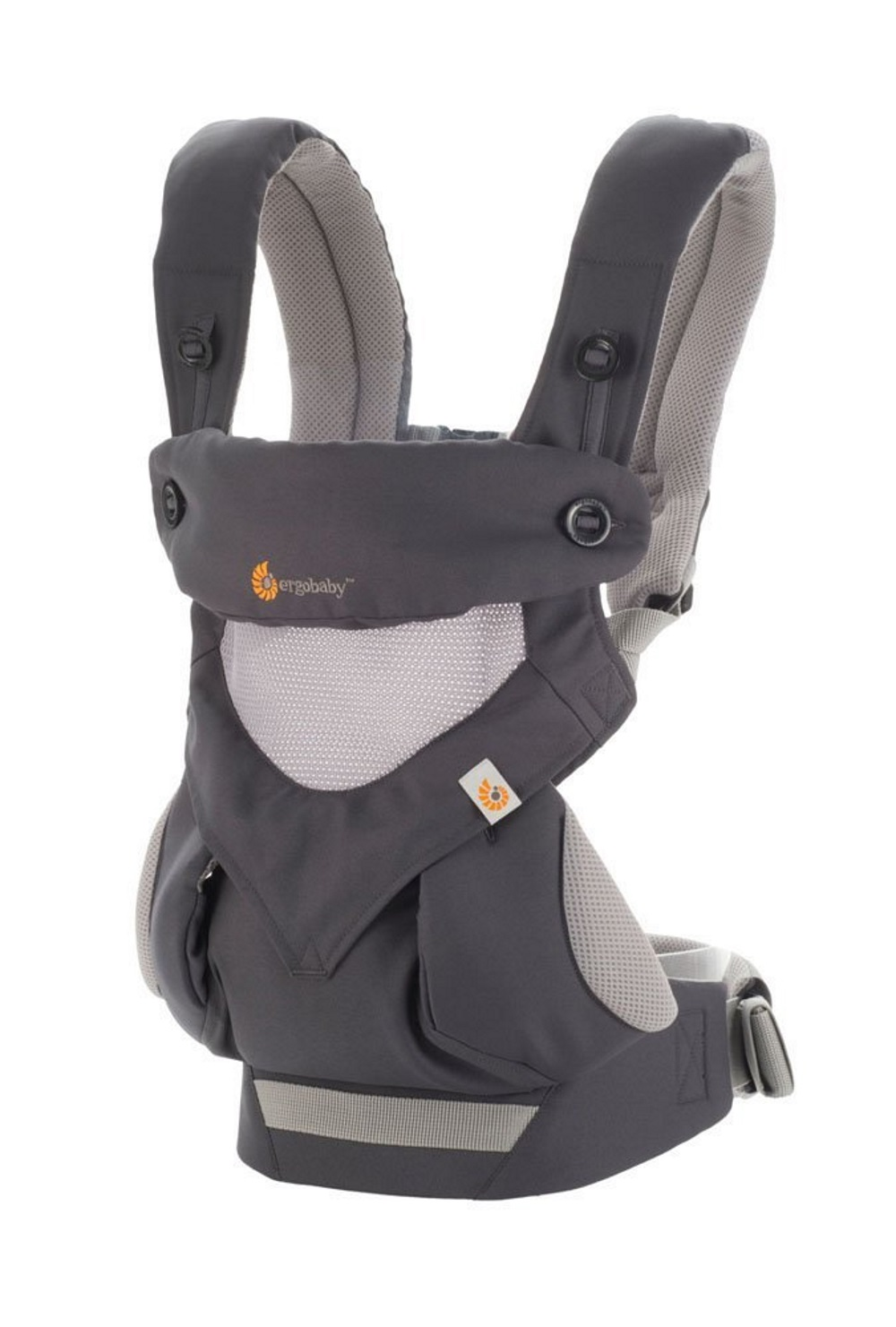 Ergobaby 360 Baby Carrier All Carry Positions Cool Air Mesh Carbon Grey by Ergobaby
