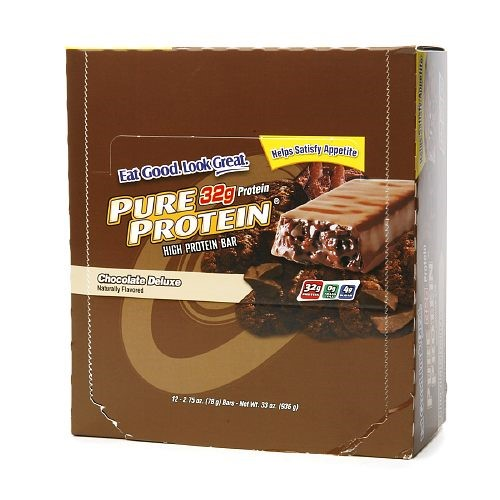 Pure Protein Bar, Chocolate Deluxe, 32g Protein, 12 Ct