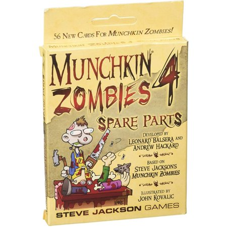 Munchkin Zombies 4 Spare Parts Game, For three to six players By Steve Jackson (Best Open World Zombie Survival Games)