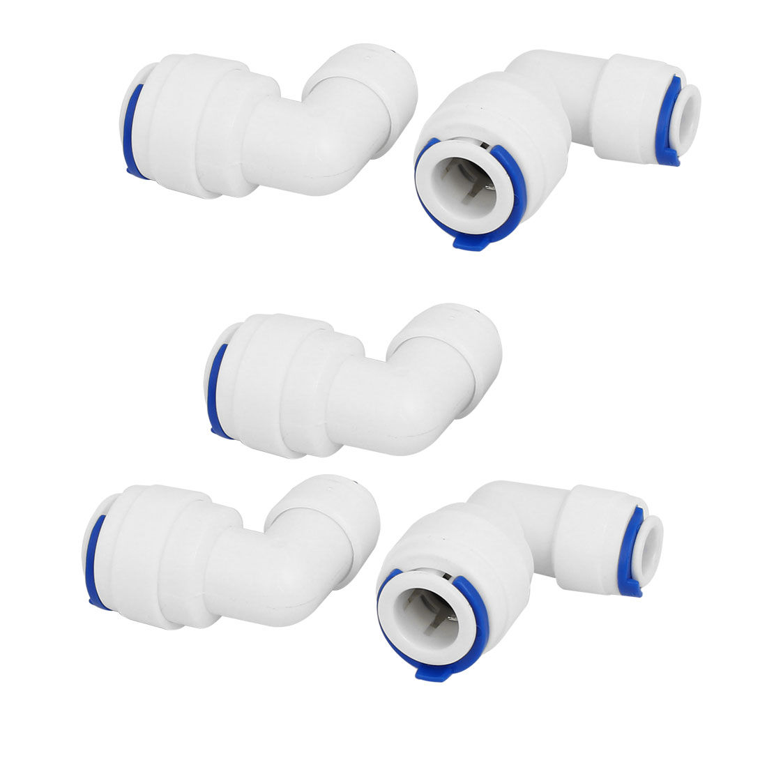 """1/4"""" x 3/8"""" Tube Elbow Push In Quick Connect 5pcs for RO Water Filter Fitting"""