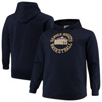 Denver Nuggets Mitchell & Ness Big & Tall Throwback Logo Pullover Hoodie - Navy