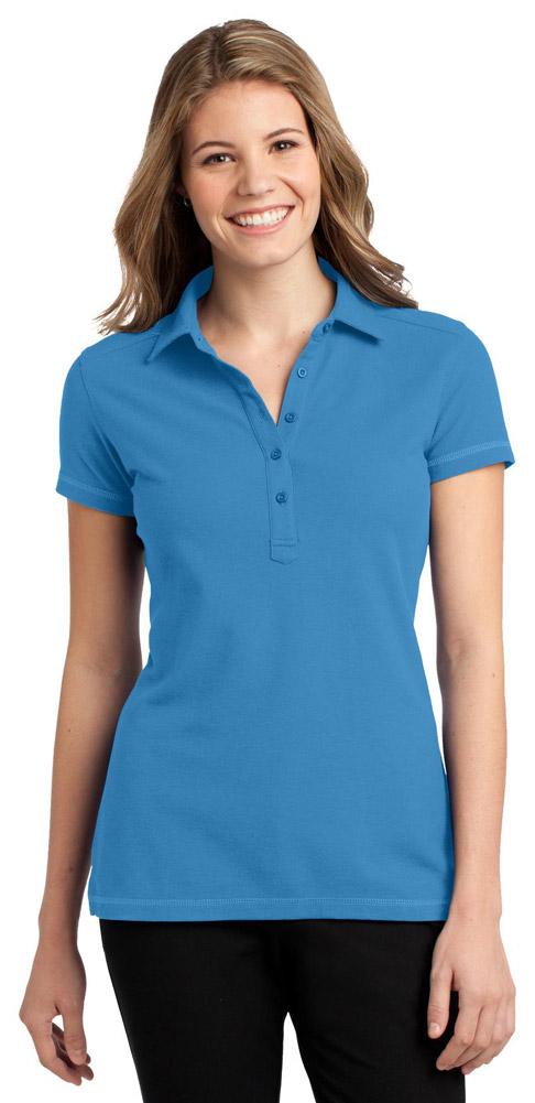 Port Authority Stain-Resistant PoloXS Celadon Blue