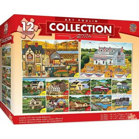 MasterPieces Art Poulin Collection - Folk Art 12 Pack Jigsaw