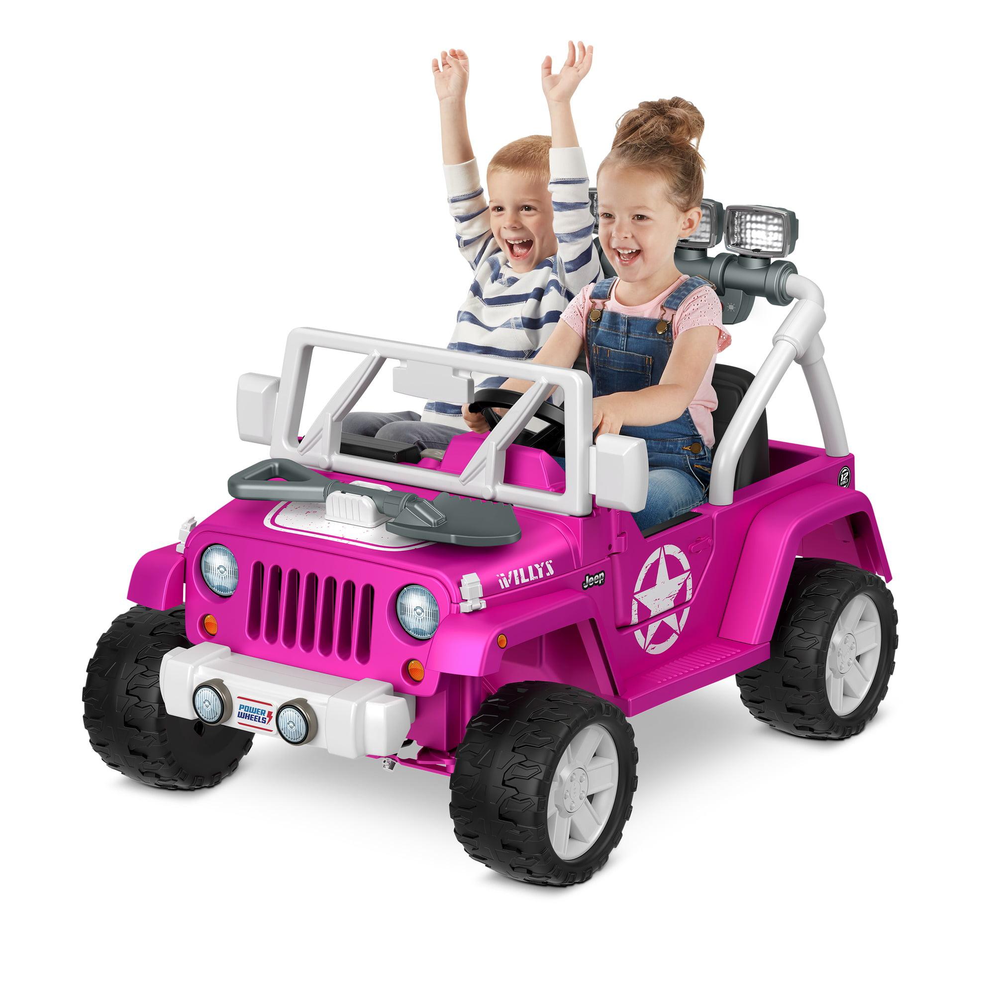Power Wheels Jeep Wrangler Willys Pink Ride On Vehicle Walmart Com Walmart Com