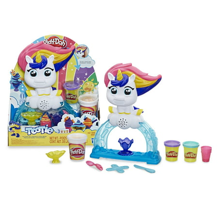 Play-Doh Tootie the Unicorn Ice Cream Set with 3 Non-Toxic Colors Featuring Color Swirl Compound (8 oz)