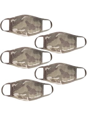 5Pcs Set Unisex Face Mask Camo Print Protect Reusable Comfy Washable Made In USA