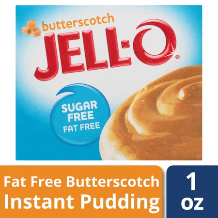 (4 Pack) Jell-O Instant Sugar-Free Fat-Free Butterscotch Pudding & Pie Filling, 1 oz (Jello Instant Pudding Pie Directions 5-9 Oz)