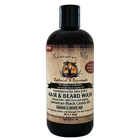 Sunny Isle Jamaican Black Castor Oil 2-N-1 Hair & Beard Wash Formulated for  Men 12oz