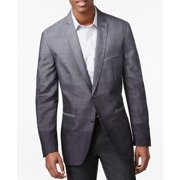 INC NEW Gray Mens Size Medium M Two Button Dip-Dye Striped 3-Pocket Blazer