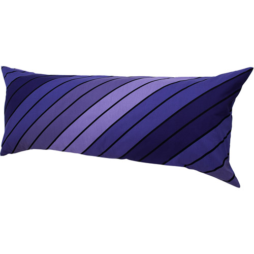 Hanes Easy Comfort Body Pillow with Removable Pillow Cover, Purple Stripes