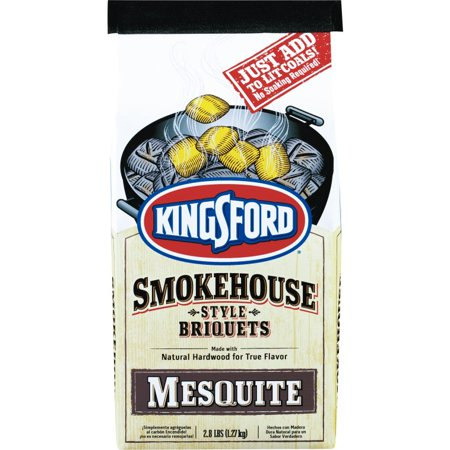 Kingsford 30989 Smokehouse Style Briquets With Mesquite, 2.8 Lbs
