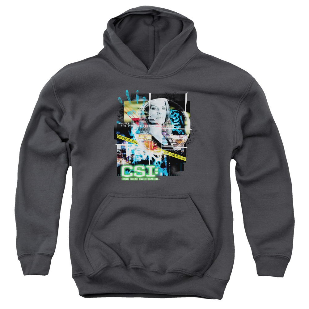 CSI Evidence Collage Big Boys Pullover Hoodie