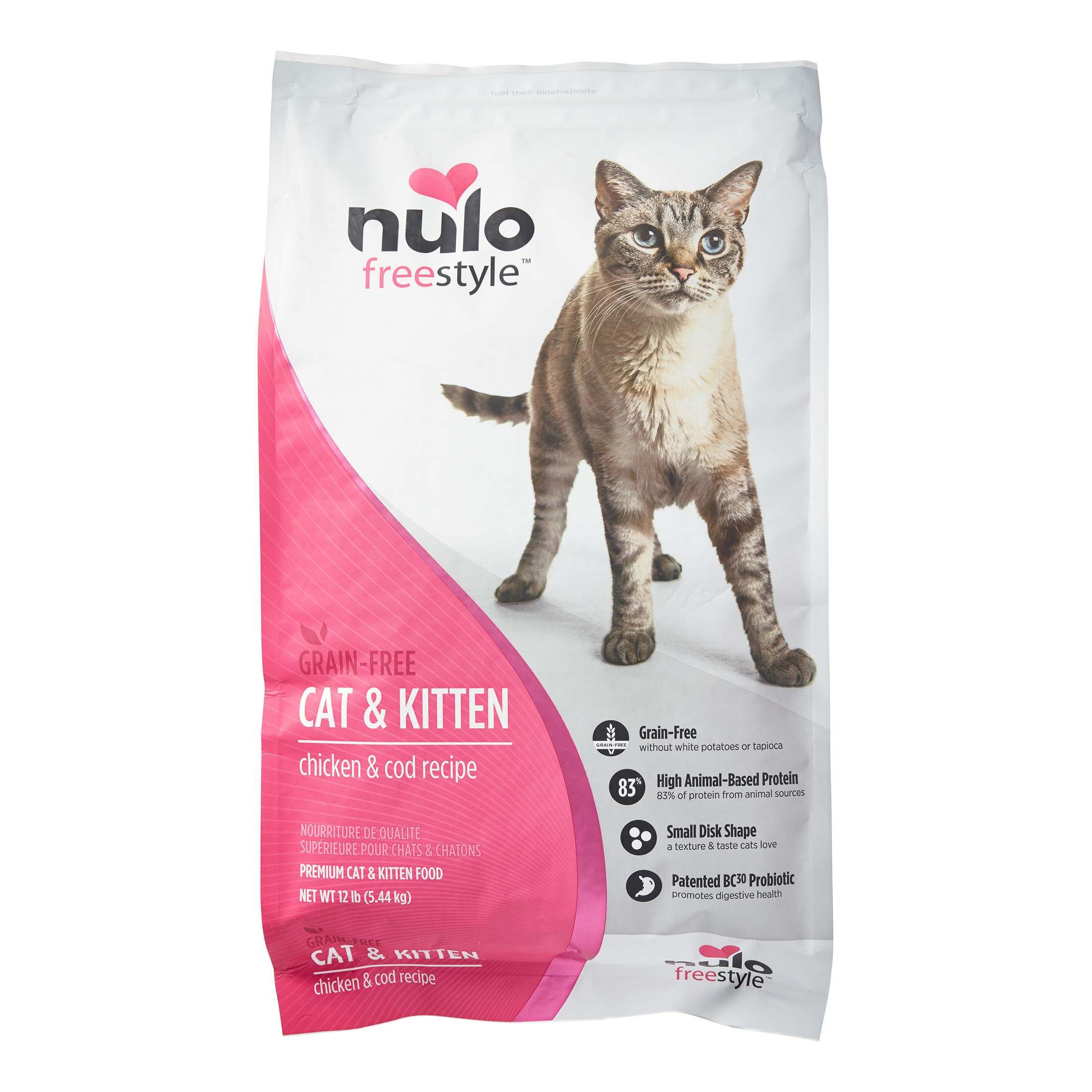 Nulo Freestyle Grain-Free Chicken & Cod Dry Cat Food, 12 Lb