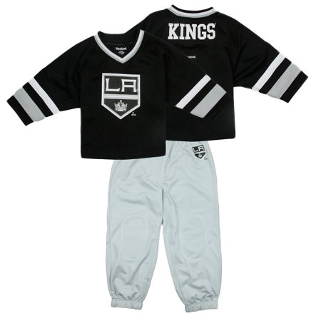 Reebok NHL Little Kids Los Angeles Kings Hockey Jersey and Pants Set, Black/Grey
