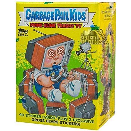 Halloween Garbage Pail Kids (2016 Topps GPK Garbage Pail Kids Card Stickers Series 2 Trashy TV Blaster Box - 4 packs of 10)