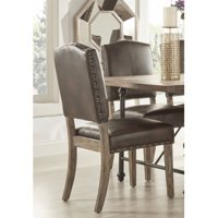 Weston Home Nailhead Dining Chair , Set of 2, Multiple Colors