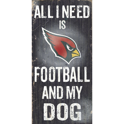 Fan Creations NFL Football and My Dog Graphic Art Plaque