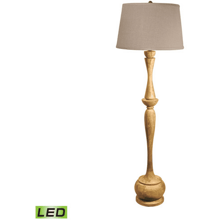 Acacia 1 Light (Floor Lamps 1 Light With Distressed Acacia Finish Wood Material Medium Base Bulb Type 65 inch 9.5)