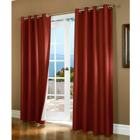 (#72) 1 PANEL BURGUNDY SOLID THERMAL FOAM LINED BLACKOUT HEAVY THICK WINDOW CURTAIN DRAPES BRONZE GROMMETS 108