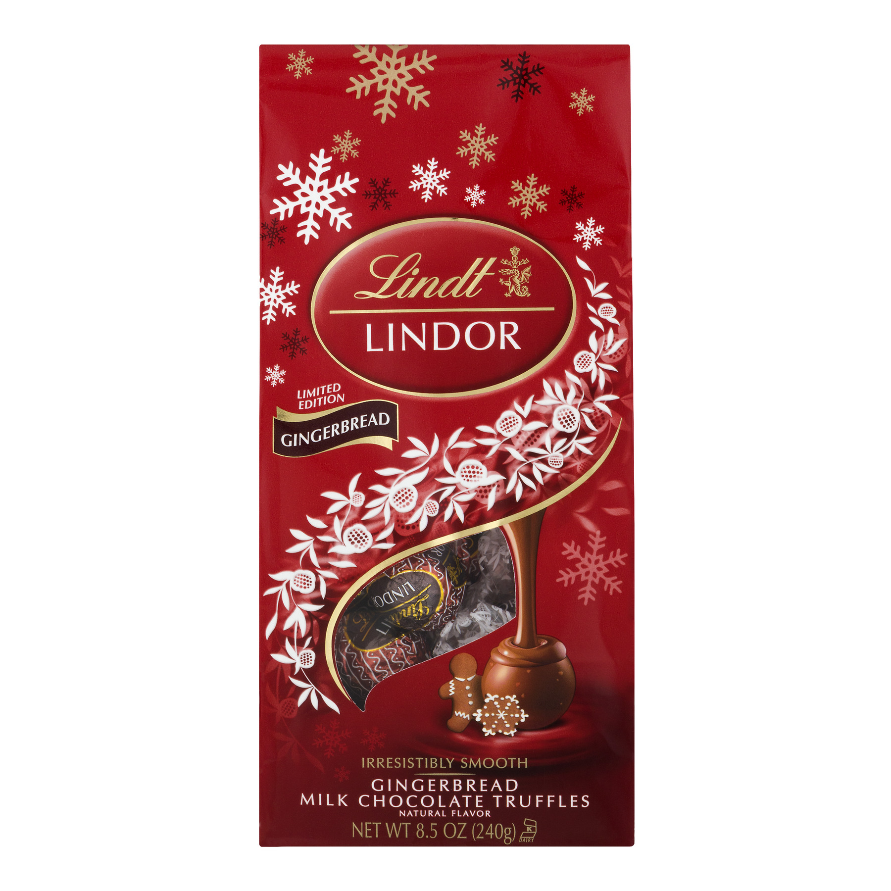 Lindt Lindor Milk Chocolate Truffles Gingerbread, 8.5 oz