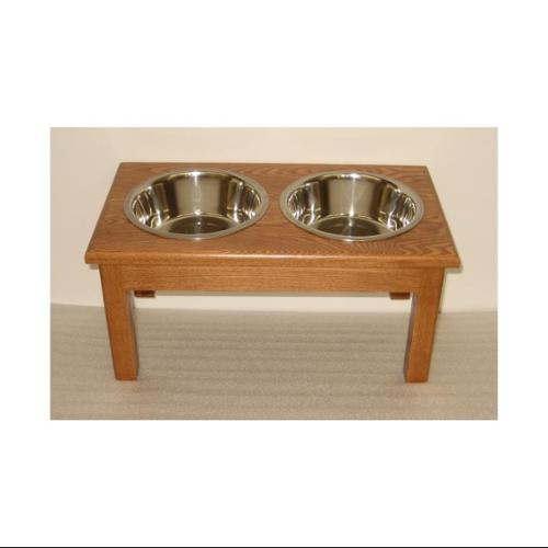 Traditional Style Medium Dog Diner (Natural)