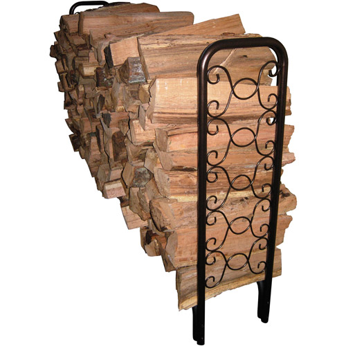 Landmann USA 8' Ornamental Scroll Log Rack, Bronze