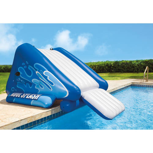 Inflatable Pool Slide Intex intex inflatable water slide play center with sprayer - walmart