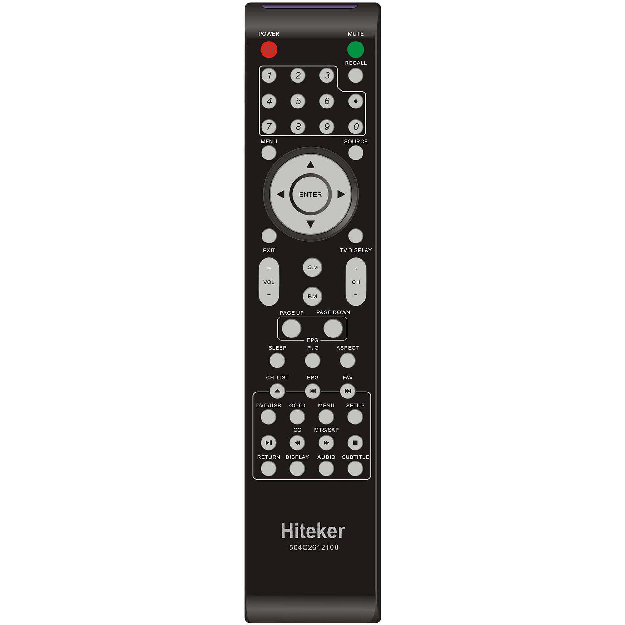 """Hiteker 26"""" Class LED-LCD 720p 60Hz HDTV with Built-In DVD Player, MSAV2611-K3-D0"""