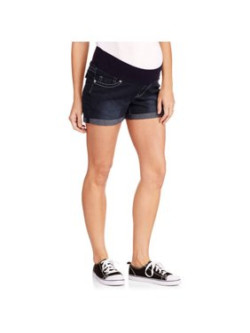 46f313f8152fc Product Image Maternity Roll Cuff Underbelly Denim Shorts - Available in Plus  Sizes