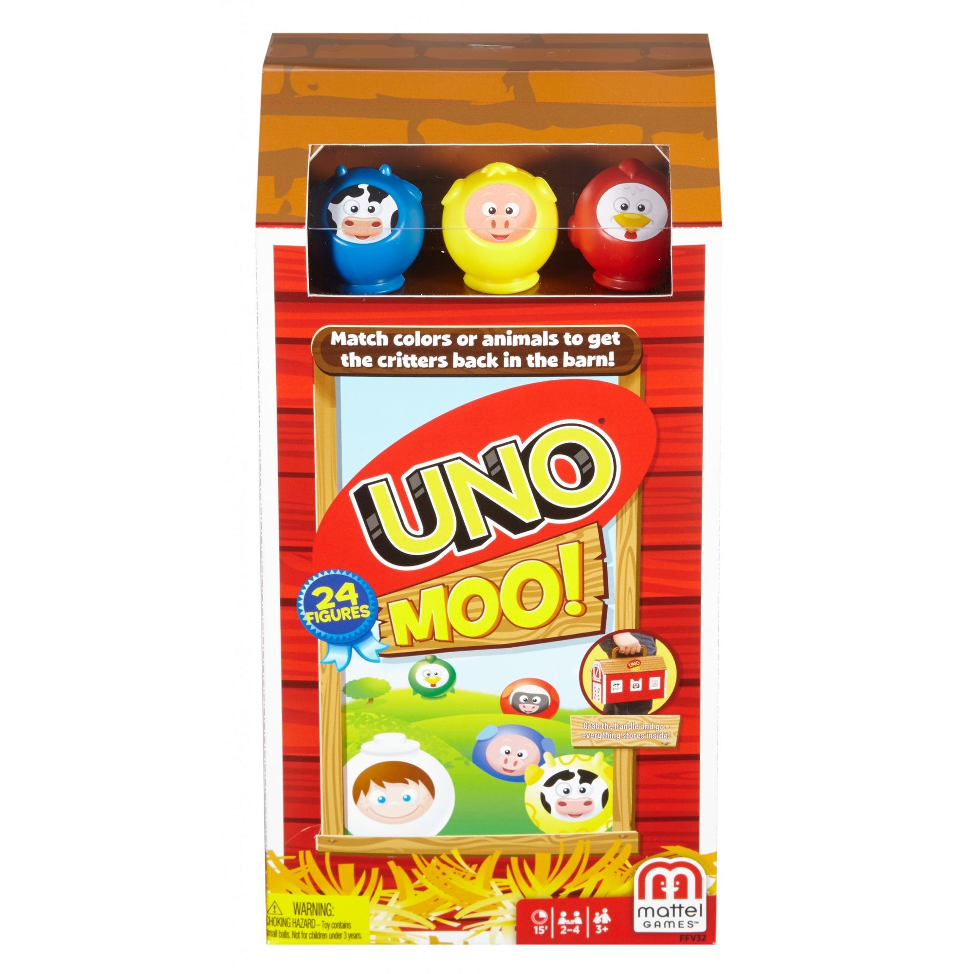 UNO Moo! Matching Animal Game for 2-4 Players Ages 3Y+
