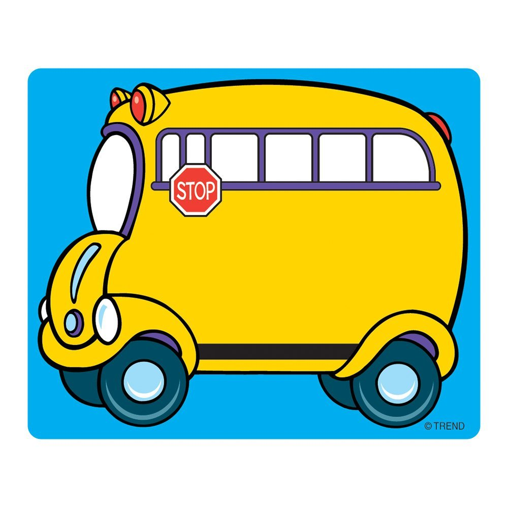 """Name Tags, School Bus (T-68001), 36 self-adhesive 3"""" x 2�"""" tags By Trend Enterprises"""