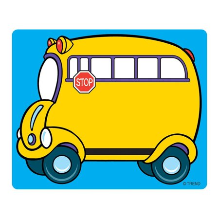 Name Tags  School Bus  T 68001   36 Self Adhesive 3  X 2   Tags By Trend Enterprises