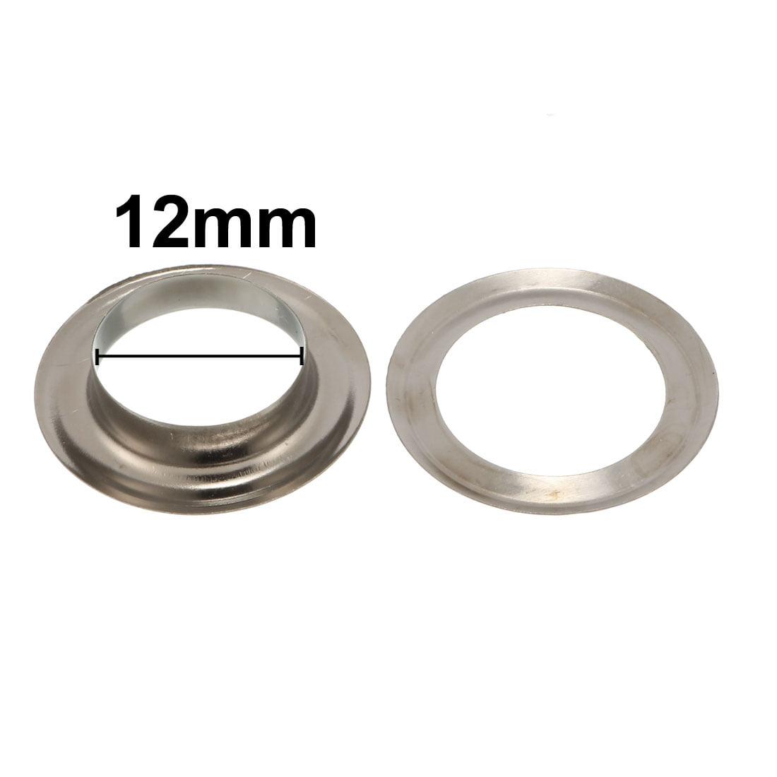 1000Pcs 12mm Eyelet 19mm Flange Dia 4mm Height Brass Grommet Black w Washer - image 2 of 4