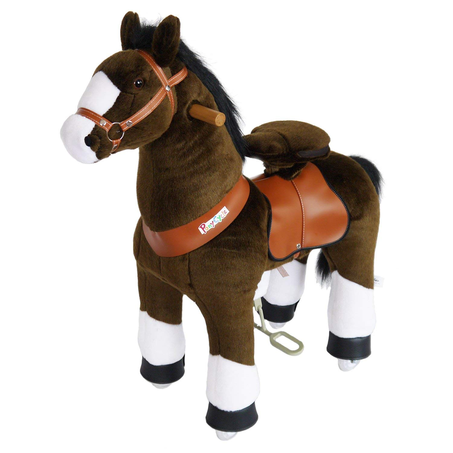 PonyCycle - Chocolate brown with white hoof - Age 4-10