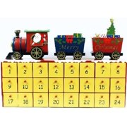 Wooden Train Theme Christmas Advent Calendar 16 Inch Holiday Countdown