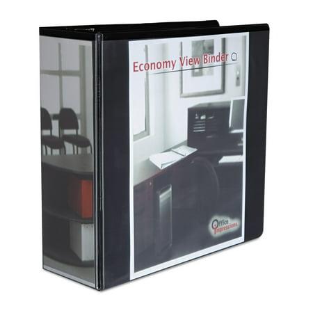 office impressions economy slant ring view binder 4 capacity