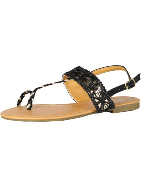 5c442bebf4cad Product Image Luo Luo Womens T Strap Sandals White Toe Ring Thong