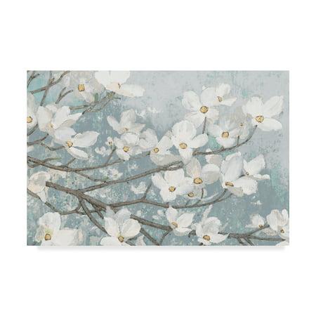 Trademark Fine Art 'Dogwood Blossoms II Blue Gray Crop' Canvas Art by James (Dogwood Mall)