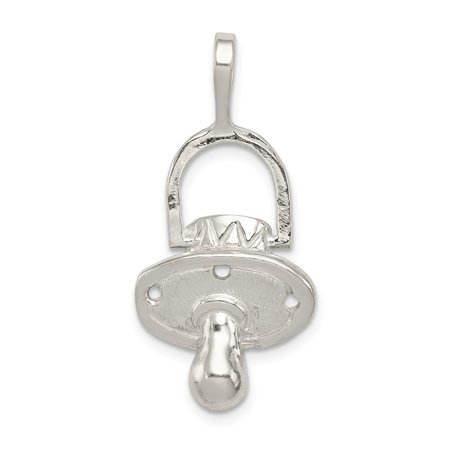 Pacifier Charm Jewelry - Sterling Silver Pacifier Charm