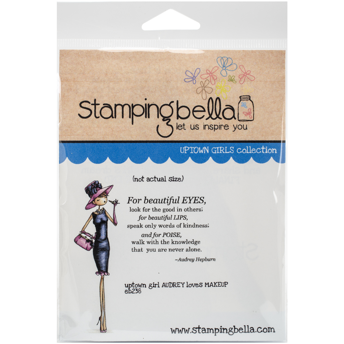 Stamping Bella Cling Rubber Stamp, Uptown Girl Audrey Loves Her Makeup