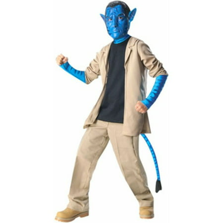 Child's Deluxe Avatar Jake Sully Costume~Large 12-14 / Blue - Costume D'halloween Avatar