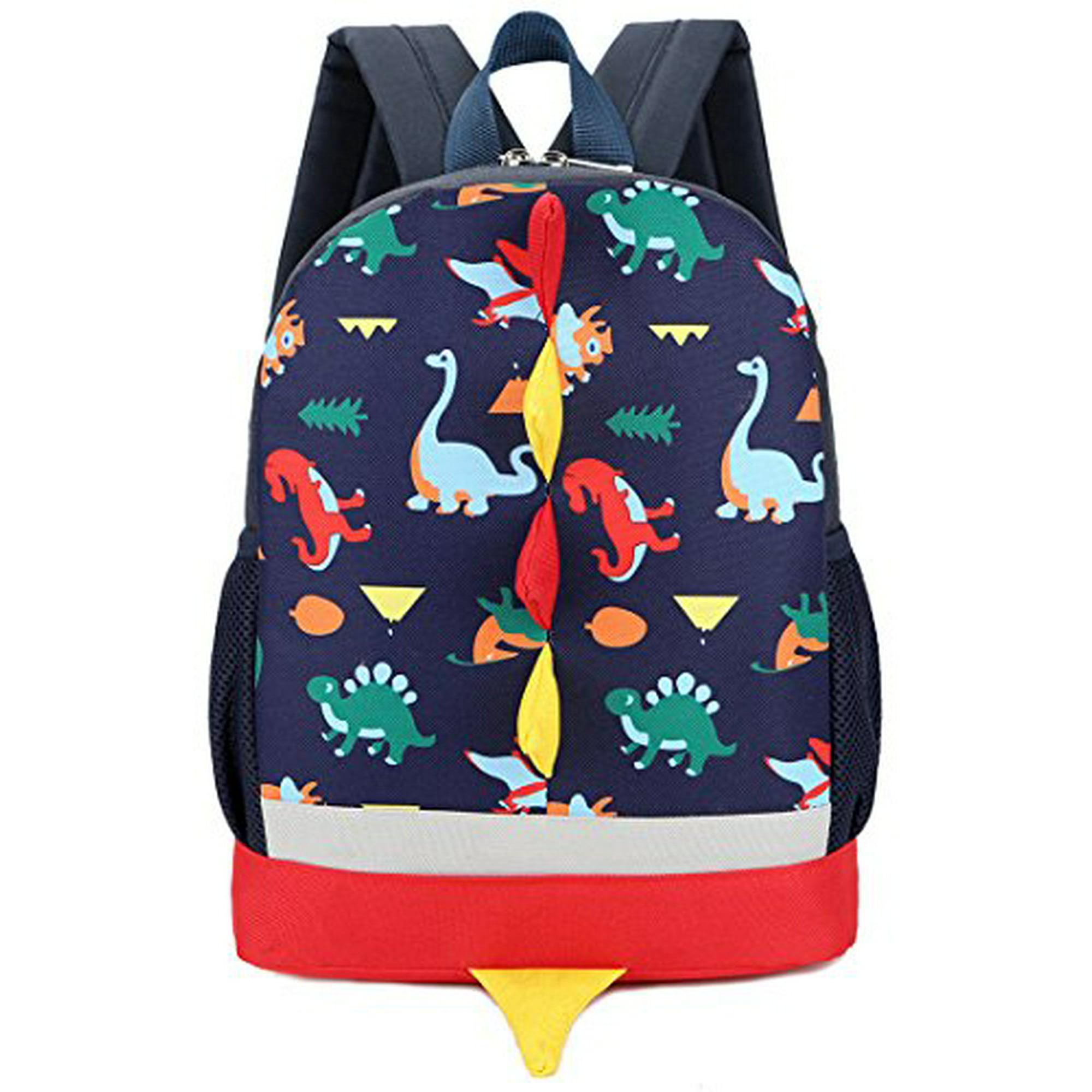 22b2fba1588e Kid Backpack Boy Preschool with Strap Dinosaur Blue Kindergarten ...