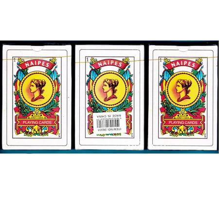 3 Decks Spanish Playing Cards Baraja Espanola 50 Cards Naipes Tarot New - Playing Card Company Deck Seals